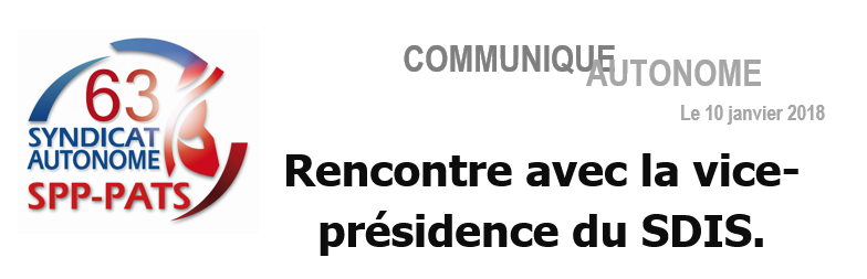 SA 63 - RENCONTRE VICE PRESIDENCE SDIS