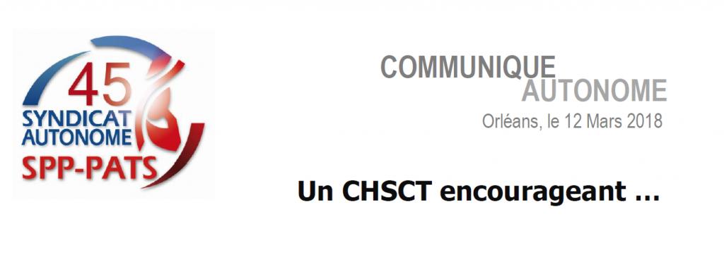 SA 45 - Un CHSCT encourageant …